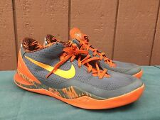 RARE Nike Kobe VIII 8 PP Philippines Pack Cool Wolf Gray Orange US 10 613959 005