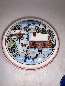 VILLEROY & Boch Porcelain Trinket Pot NIAF Christmas