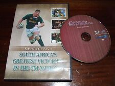 Six of the Best South Africa's Greatest victories in the tri nations DVD rubgy