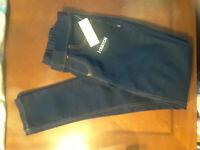 NEW Bobbie Brooks Navy Blue Denim Faux Jeans Skinny Jeggings Womens XS Closet314