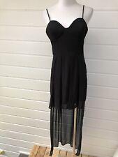 caaec3bd NASTY GAL Black Spaghetti Strap High Low Party Dress - Medium