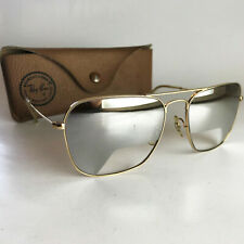 Vintage Ray Ban B&L PILOT'S GLASS Sunglasses silver mirrored aviator caravan 58