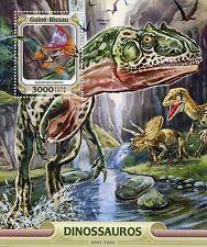 Guinea-Bissau 2016 MNH Dinosaurs 1v S/S Tupandactylus Allosaurus Stamps