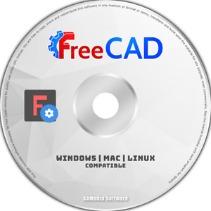 FreeCAD - 2D 3D CAD - Uses AutoCAD DWG File - Computer Aided Design Software DVD