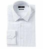HUGO BOSS ENZO US BLACK LABEL DRESS SHIRT REGULAR FIT POINT COLLAR WHITE -NWT