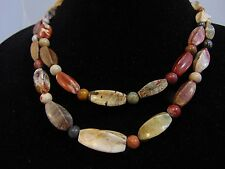 Jay King Bumble Bee Jasper Nuggets 2-Strand Sterling Necklace Marked 925