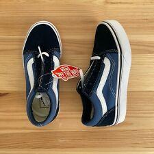 NWT VANS Old Skool Blue Shoes Sneakers Size 13.5 Kids
