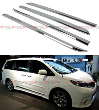 FOR:2011-2018 TOYOTA SIENNA LE XLE POLISHED ABS SIDE BODY MOLDING MOULDING TRIM