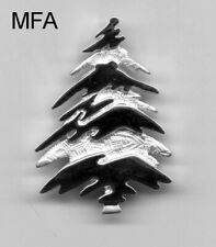 Gorgeous Silver Christmas Tree Pin - Signed