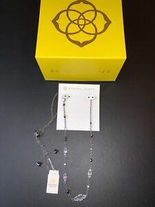 KENDRA SCOTT Debra Hematite Cubic Zirconia Adjustable Choker Necklace NEW