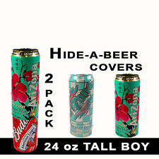 TALL BOYS HIDE A BEER CAN CAMO WRAP SLEEVES DISGUISE 24 OZ COVERS SODA TAILGATE