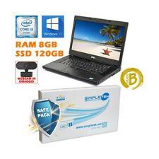 """COMPUTER NOTEBOOK DELL E6510 I5 15,6"""" RAM 8GB SSD 120GB BATTERIA NUOVA-"""