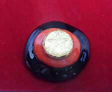 talisman pentagramme lithothérapie jaspe et agate noire