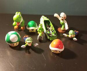 Lot of Nintendo Super Mario Figures and Toys Assorted Luigi and Yoshi figures