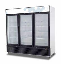 New 3 Glass Door 72 cu ft Display Refrigerator Cooler Migali C-72Rm-Hc #9627 Nsf