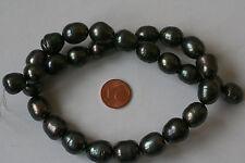 Perlen SWZP(anthrazit, gefärbt 11-14 mm.B) I-0218/I