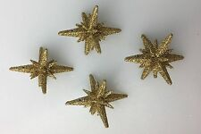 GOLD GLITTER 60S SPUTNIK ORNAMENTS FOR ALUMINUM CHRISTMAS TREE