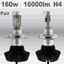 Pair 160W 16000LM LED Headlight Bulbs Philips Chips H4 9003 Plug Bulb 6000K Hi/L