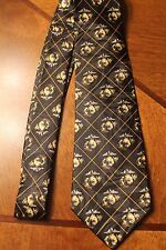 The United States Marine Corps On A Brand New Black Polyester Neck Tie! #7