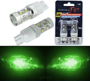 LED Light 50W 7444 Green Two Bulbs Front Turn Signal Replacement Fit Show Color