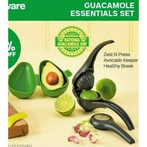 Tupperware Lime Zest Avocado Keeper Set