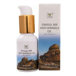 Anti Wrinkle Face and Body Oil with Emu Oil, Vitamin E, and Vitamin C, 50ml