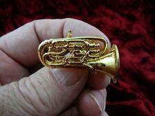 (M203A) EUPHONIUM Tac pin BROOCH JEWELRY 24k gold plate tack lapel horn horns
