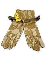 G1 Genuine British Military Desert Camo Leather Combat Gloves Size 7 #2479