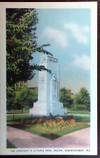 1940's Postcard The Cenotaph in Victoria Park Regina Saskatchewan Canada