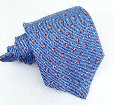 Cravatta blu chiaro geometrica Enrico Coveri seta larga business / cerimonia