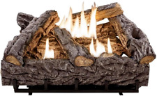 Gas Ventless Fireplace Logs Unvented Artificial Natural Fake Thermostat Heate