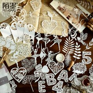 Decorative Lace Paper Craft, Journal Card Making Shapes, Numbers Cut-Outs