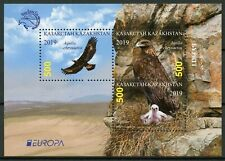 Kazakhstan Birds on Stamps 2019 MNH Europa Eagles Golden Eagle 3v M/S