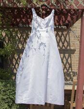 Satin V - neckline Ball  Corset BACK Wedding Dress Plus size Ginnis Fashion, 16W