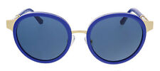 NWT Tory Burch Round Sunglasses Blue/Gold TY6042Q NEW Case