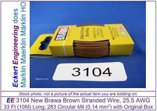 EE 3104 NEW Brown Brawa 33 ft (10m) 25.5 AWG Stranded Wire Single Conductor