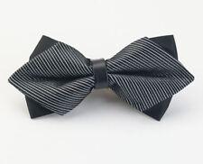 Nœud Papillon/Bowtie Luxe Noir Diamant Accessoires Costume Homme Mariage Noël
