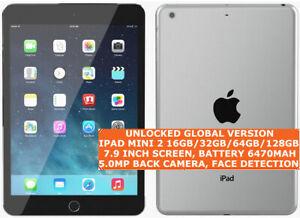 """APPLE IPAD MINI 2 16gb/32gb/64gb/128gb Dual-Core 5mp Camera 7.9"""" Ios Tablet Lte"""