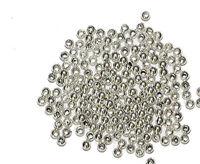 2.5mm Round Bright Silvertone Metalized Metallic Beads