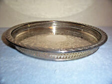 """VINTAGE WM. ROGERS 11"""" ROUND SILVERPLATE SERVING TRAY"""