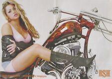 Una revista Chopper centro veces Poster-voluptuosa rubia-bsh