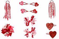 NWT Gymboree Girls Valentine Heart Hair Accessories U-Pk