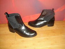SUPERB ASOS Black  Leather chelsea dealer style  Boots  UK 8 *23*