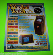 MAGICAL TOUCH By MICRO MFG. ORIGINAL VIDEO ARCADE GAME PROMO SALES FLYER