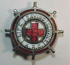 1930s 1940s Red Cross *Life Saving Service* Enameled Pin - ARC LSS - PB