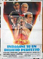 Gloria Guida INDAGINE SU UN DELITTO PERFETTO manifesto 2F originale 1978