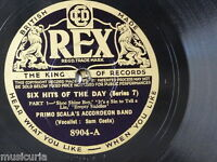 78rpm PRIMO SCALA ACCORDEON BAND hits of the day series 7 , 8904