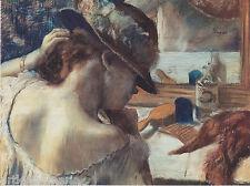 EDGAR GERMAIN DEGAS AT THE MIRROR PORTRAIT ART GICLEE PRINT FINE CANVAS