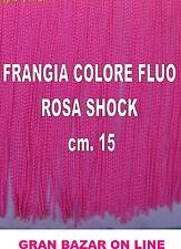 FRANGIA ROSA FLUO SHOK cm.15 x 1 metro COSTUME SCENA SPETTACOLO SAGGIO DANZA