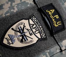 JTF AFGHAN NATIONAL ARMY ANA COMMANDO SSI: APU AFGHANISTAN PARTNERING UNIT + TAB